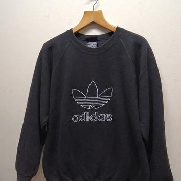 25% SALES ALERT Vintage 90's Adidas Big Logo Sweatshirt Pull Over Sport Sweater Hip Ho