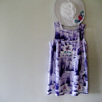 Hand painted girl's cotton bib dresses on Kaua'i by PetrinaBlakely
