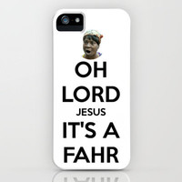 Oh Lord Jesus, It's A FAHR! iPhone Case by Abigail Ann | Society6