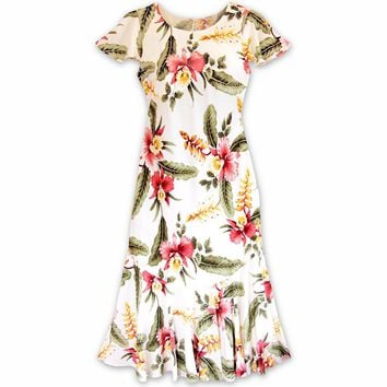 Cloud Cream Malia Hawaiian Dress