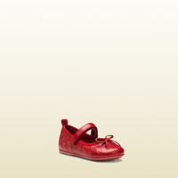 Gucci - toddler microguccissima leather ballet flat 327244AOE406420
