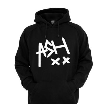 Ash 5sos hoodie Rock Band sweatshirt jumper t shirt black and white color