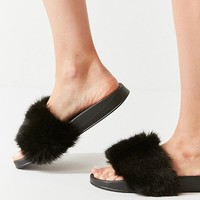 UO Faux Fur Slide   Urban Outfitters