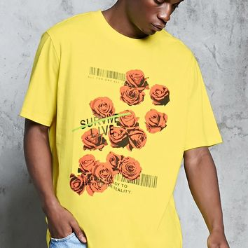Rose Graphic Print Tee