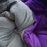 Purple Gray Reversible Comforter Twin XL Bedding College Dorm Essentials Sleeping Well Soft XL Twin