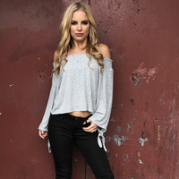 Purify Knit Grey Blouse