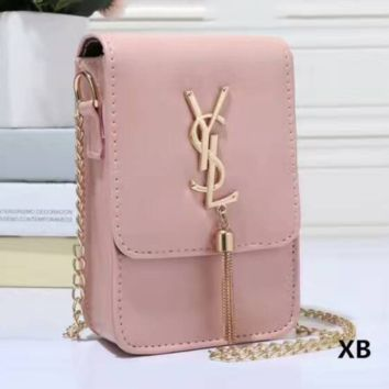9a7bb09f4ed YSL Women Tassel Square Shopping Leather Metal Chain Crossbody S
