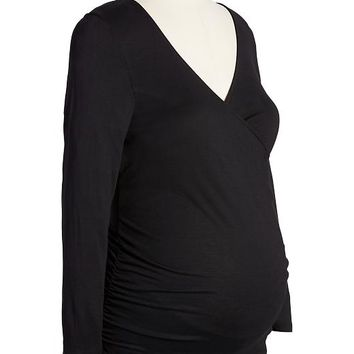 Old Navy Maternity Wrap Front Jersey Tops