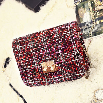 One Shoulder Bags Chain Strong Character Korean Shoulder Bags [6582450247]