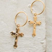 Charm Hoops - XL Cross