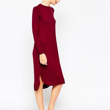 Solid Color Long Sleeve Dress Winter Autumn A31