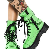 Toxic Slime | COMBAT BOOTS [IN STOCK]