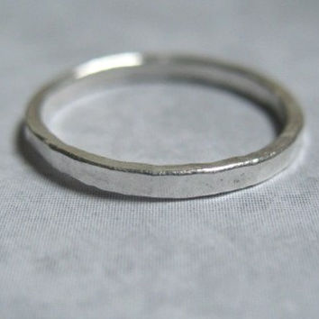 Silver Stack Ring Small Stacking Ring Size 5 Handmade