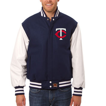 Minnesota Twins Wool And Leather Varsity Jacket