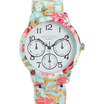 Floral Metal Stretch Watch