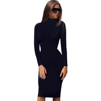 Sexy Long Sleeve Evening Party Dress