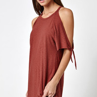 Michelle by Comune Tie Up Cold Shoulder Dress at PacSun.com
