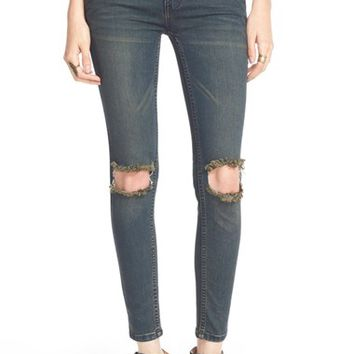 Women's Free People Destroyed Skinny Jeans (Patsy)