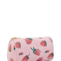 Strawberry Print Cosmetic Bag