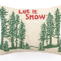 Let it Snow 14x18 Pillow, Multi, Decorative Pillows