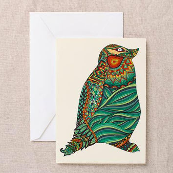 Ethnic Penguin Greeting Card | Thank You Card | Birthday Card | Notecard