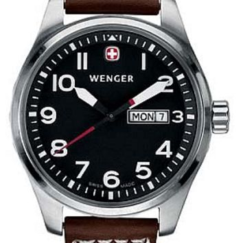 Wenger Men's Swiss Made Aerograph Day Date Watch 72091