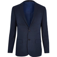 River Island MensBlue skinny suit jacket