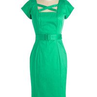 Pinup Long Short Sleeves Bodycon Sass All, Folks! Dress