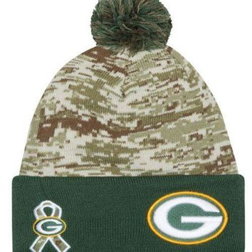 Green Bay Packers NFL15 Salute To Service Sideline Knit Hat