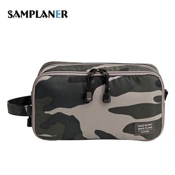 Samplaner Camouflage Cosmetic Bags Men Travel Toiletry Bag Shaving Kit Cosmetic Pouch Cases Women Cosmetics Bags For Make Up