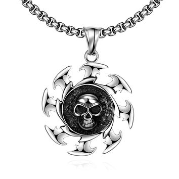Skull Blade Stainless Steel Necklace