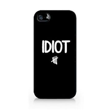 AIPC-458-IDIOT - Michael Clifford Flannel Idiot - 5SOS - 5 Seconds of Summer-Iphone 4/4s, Iphone 5/5s hard plastic case