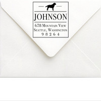 Dog Return Address Stamp - Custom Dog Stamp - Dog Breed Rubber Stamp - Labrador Retriever Address Stamp - Family Dog Lover Address Stamp