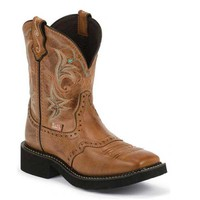 Justin Women's L9614 Gypsy Cowgirl Boots -British Brown Cow