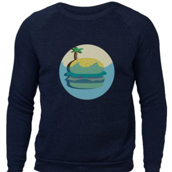 Burger Island - Alternative Apparel Crewneck Sweatshirt