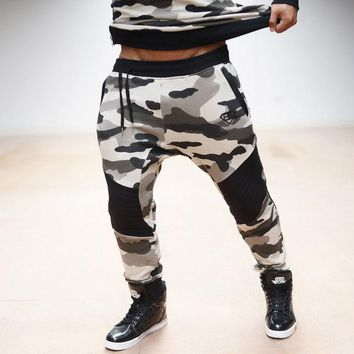 Fashion  NEW AS Gyms pants Men's gasp workout bodybuilding clothing casual camouflage sweatpants joggers pants skinny trouser