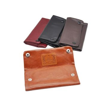 1 PC Portable 3 Color Tobacco Pouch  Wallet Bag Smoking Paper Holders   Pipe Cigarette Holder PU Leather Cigarette Accessories