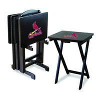St. Louis Cardinals MLB TV Tray Set with Rack