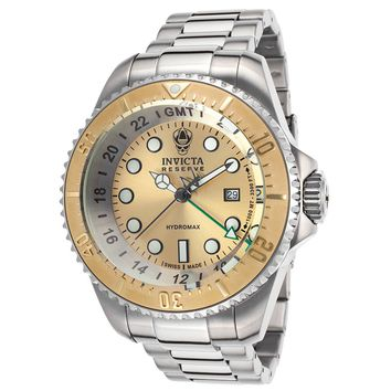 Invicta 16962 Men's Hydromax Reserve Gold Tone Dial Steel Bracelet Dive Watch