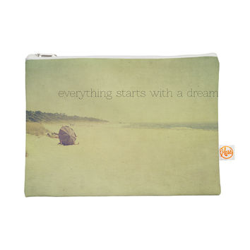 "Ingrid Beddoes ""Everything Starts With A Dream"" Beach Quote Everything Bag"