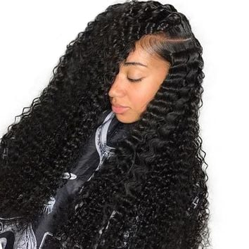 360 Lace Frontal Wig Pre Plucked 180% Density Brazilian Curly Wig Lace Front Human Hair Wigs With Baby Hair Remy Hair You May