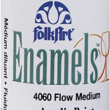 flow medium folk art enamel paint - 2 oz.