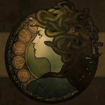 """Medusa"" - Art Print by Megan Lara"