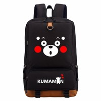 lovely  Kumamon Black Bear backpack fashion cute casual backpack teenagers Men women's Student School Bags travel  Laptop Bags