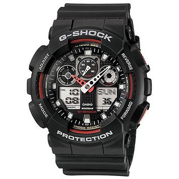 Casio XL G-Shock - Black and Red - Magnetic Resistant - World Time - 200m