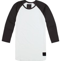 On The Byas Hayden Mesh Panel Raglan T-Shirt - Mens Shirt - Black