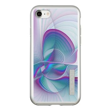 Colorful Modern Pink Blue Turquoise Fractal Art Incipio DualPro Shine iPhone 8/7 Case
