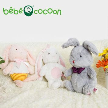 DCCKL3Z Bebecocoon 2017 Kawaii Animal Soft Toys Easter Sweet Sleeping Plush Rabbit Gray/ Pink Bunny Stuffed & Plush For Girls Gifts