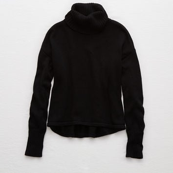 Aerie Turtleneck Sweater , True Black