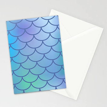 Purple Blue Mermaid Scales Stationary Set, Mermaid Thank You Cards, Purple Stationary, Mermaid Invites, Mermaid Stationary, Mermaid Theme